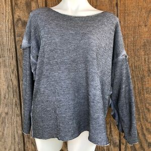 NWT Wildfox Gray Ruffled Sweatshirt Large